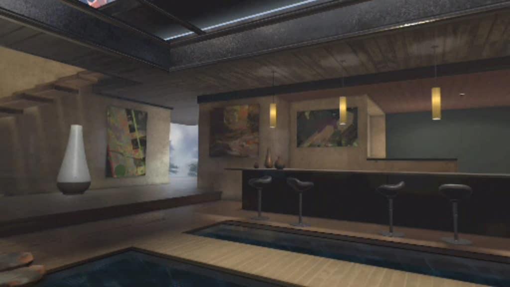 謎の未来的な部屋
