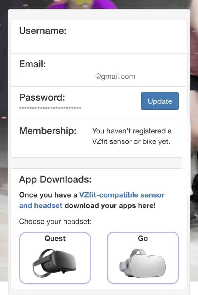 vzfit_登録画面